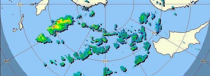 Μέτωπο κακοκαιρίας προσεγγίζει την Κύπρο από τα δυτικά τις επόμενες ώρες