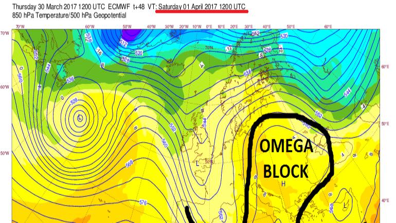 """OMEGA BLOCK"" φέρνει τριήμερο με βροχές και καταιγίδες!!!"