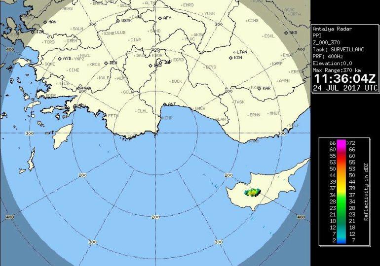 Εκδήλωση μεμονωμένης βροχής στην περιοχή Τροόδους