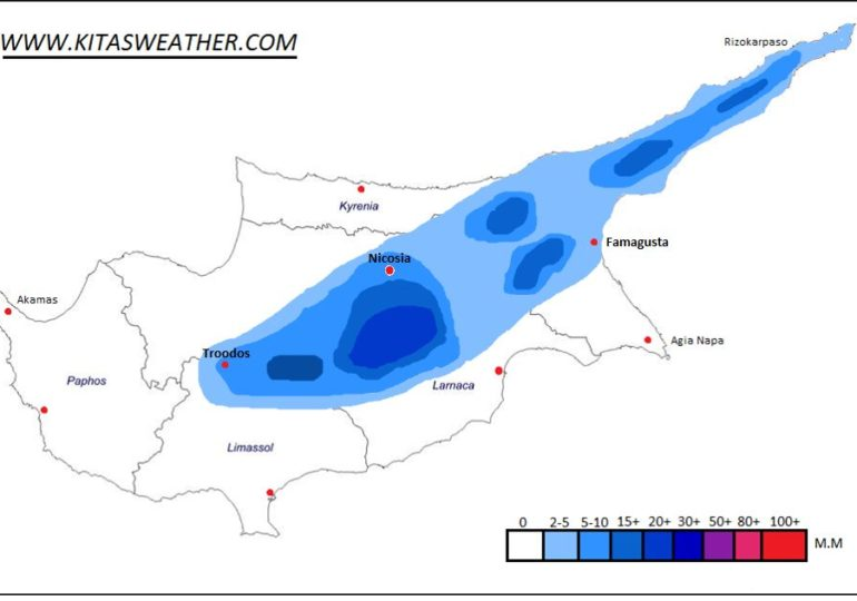Τοπικά έντονες καταιγίδες με χαλάζι το επόμενο τριήμερο