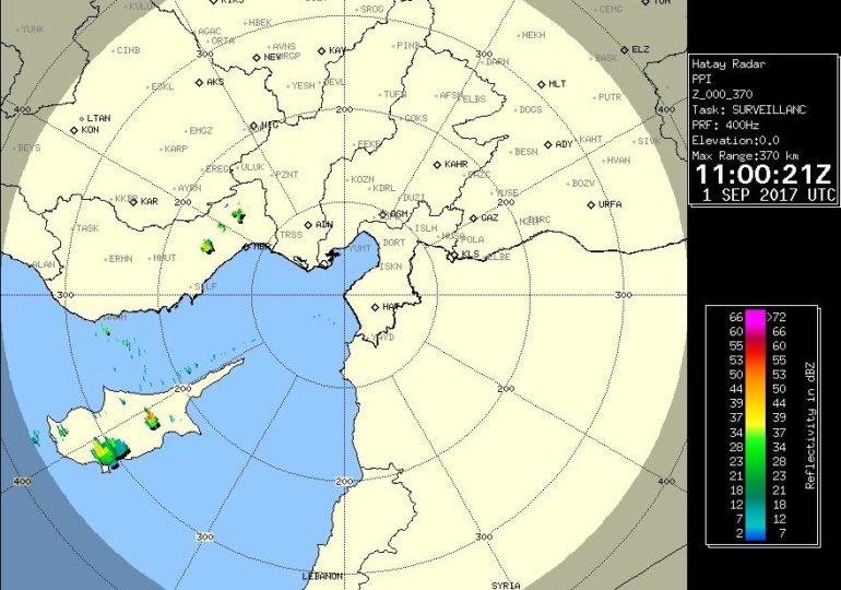 Εκδήλωση βροχών/καταιγίδων σημειώνεται αυτή την ώρα