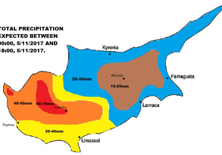 Έντονα και παρατεταμένα τα αυριανά φαινόμενα (Χάρτης)