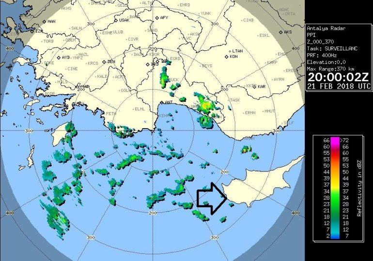 Τοπικές βροχές πλησιάζουν το νησί από τα δυτικά