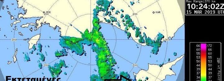 Επιδείνωση του καιρού τις επόμενες ώρες - Αρκετές καταιγίδες πλησιάζουν το νησί από τα δυτικά