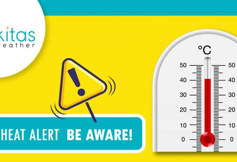 Ιδιαίτερα θερμή αέρια μάζα επηρεάζει την περιοχή - Κίτρινη προειδοποίηση σε ισχύ