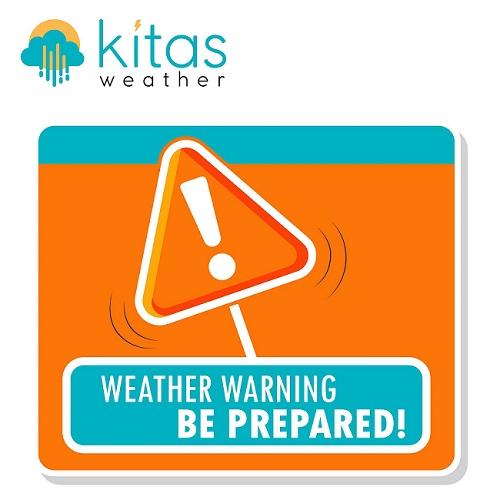 Αναβαθμίζονται σε πορτοκαλί προειδοποίηση συγκεκριμένες περιοχές για μεγάλα ύψη βροχής (Xάρτης)