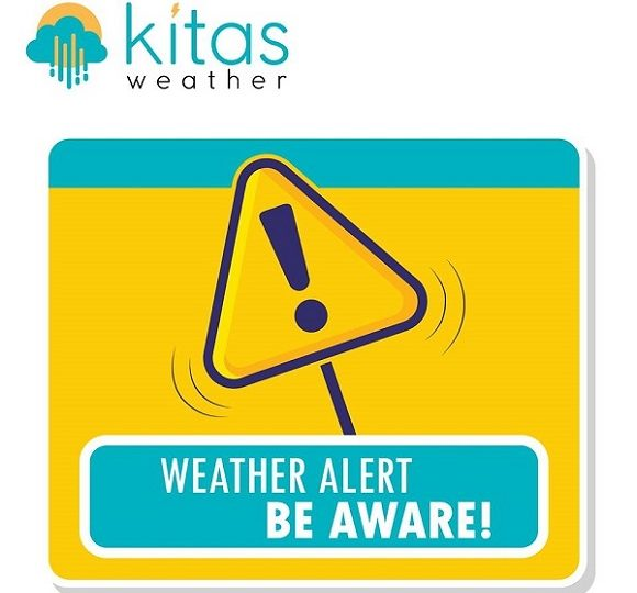 Κίτρινη προειδοποίηση από Kitasweather για τοπικά έντονες καταιγίδες και μεγάλα ύψη βροχής
