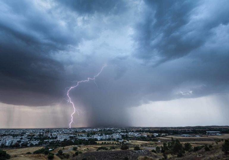 Νέα κίτρινη προειδοποίηση για τοπικά ισχυρές ή/και ακραίες καταιγίδες