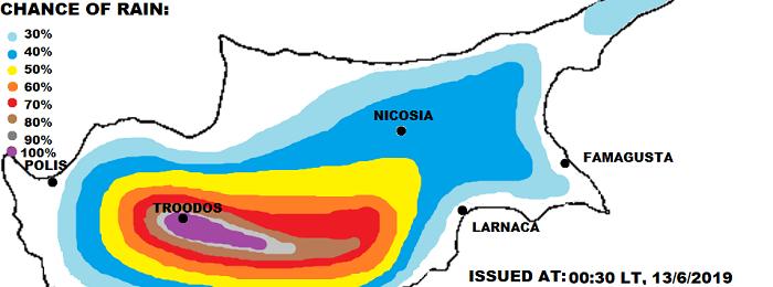 Τοπικά ακραίες καταιγίδες το επόμενο 3ήμερο - Γενικεύονται οι χαλαζοπτώσεις