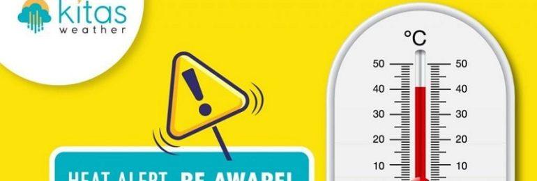 Νέα κίτρινη προειδοποίηση για υψηλές θερμοκρασίες από Kitasweather