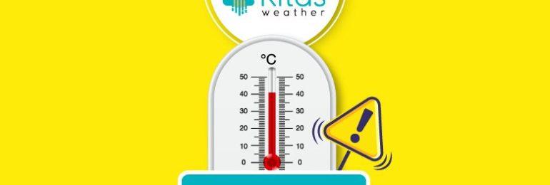 Νέα κίτρινη προειδοποίηση υψηλών θερμοκρασιών από Kitasweather για αύριο Σάββατο (29/8)