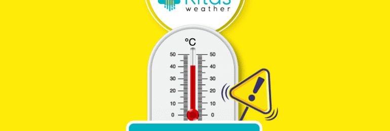 Κίτρινη προειδοποίηση υψηλών θερμοκρασιών για αύριο Τετάρτη (20/5) από Kitasweather (Χάρτης)