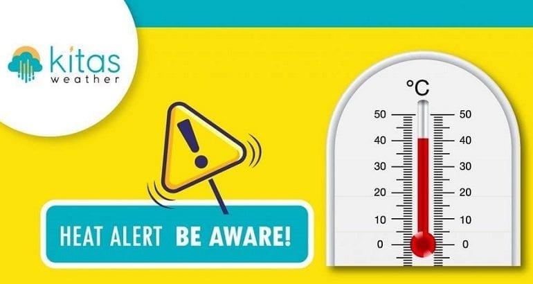 Κίτρινη προειδοποίηση για υψηλές θερμοκρασίες από Kitasweather