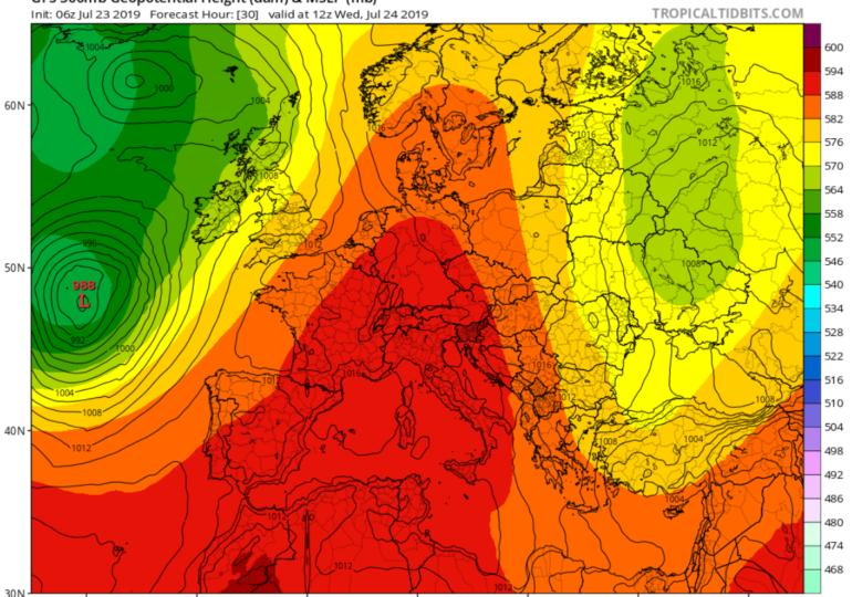 Καύσωνας στην κεντροδυτική Ευρώπη - Θερμός ο καιρός στην περιοχή μας