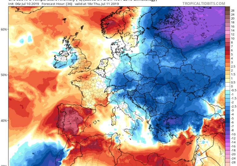 Έρχεται πτώση θερμοκρασίας και ενίσχυση ανέμων