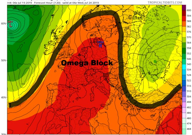 Omega Block φέρνει νέο κύμα καύσωνα σε μεγάλο μέρος της Ευρώπης