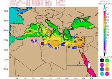 Βαρομετρικό χαμηλό διασχίζει την Βόρειο Αφρική