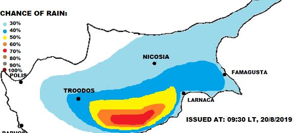 Τοπικά ισχυρές καταιγίδες και σήμερα (Χάρτης)