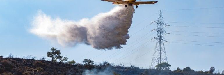 Πυρκαγιά στη Λάνεια - Κινητοποιήθηκαν εναέρια μέσα