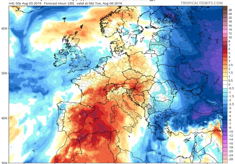 Πτώση θερμοκρασίας, αύξηση υγρασίας και πιθανότητα τοπικών βροχών