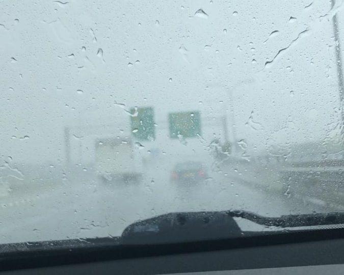 Έκτακτο δελτίο - Έντονη βροχόπτωση με μειωμένη ορατότητα επηρεάζει τον αυτοκινητόδρομο