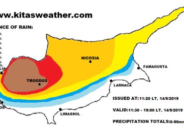 Τοπικά ισχυρές ή/και ακραίες καταιγίδες σήμερα - Πορτοκαλί προειδοποίηση από Kitasweather