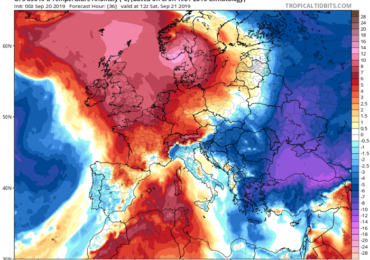 Ενισχυμένο δυτικό ρεύμα αέρα σήμερα - Εκτοπίζονται οι θερμές αέριες μάζες