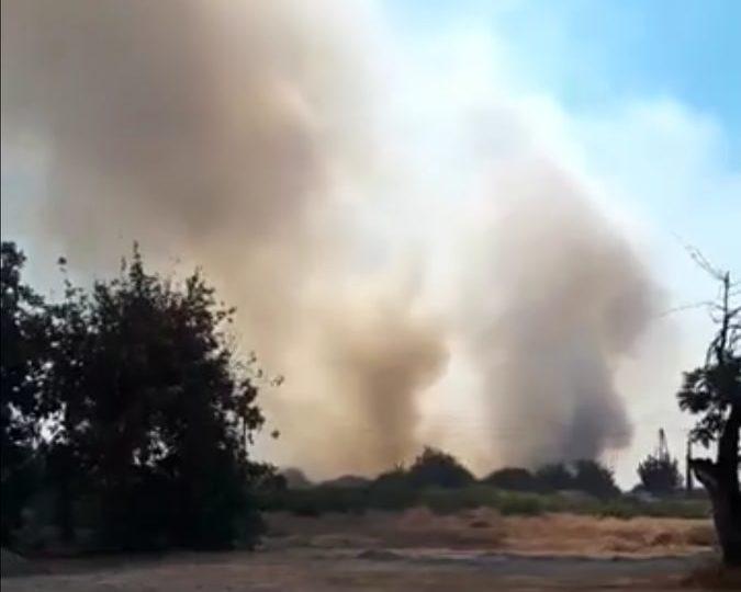 Πυρκαγιά κοντά σε κατοικημένη περιοχή στον Ύψωνα (Βίντεο)