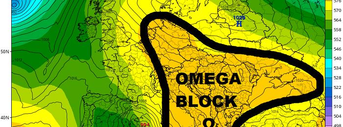 Omega Block ενδέχεται να φέρει ουσιαστική αλλαγή στην περιοχή μας με βροχές και καταιγίδες