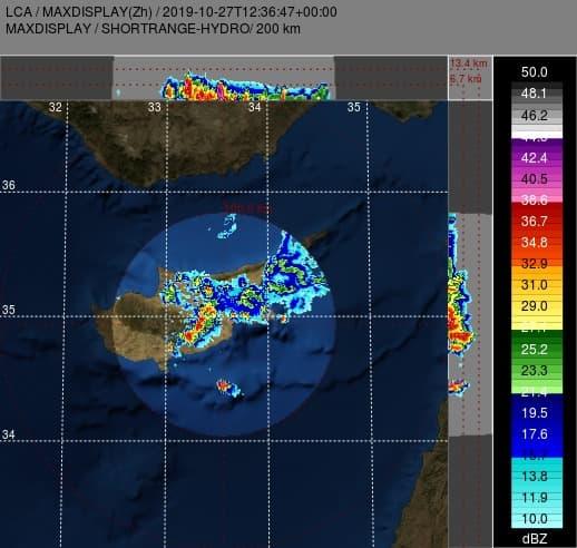 Έκτακτο δελτίο 3: Ισχυρές πολυκυτταρικές καταιγίδες στον αυτοκινητόδρομο Λεμεσού - Λευκωσίας - Λάρνακας
