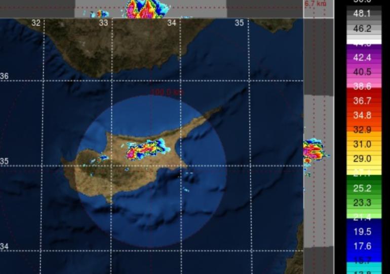 Έκτακτο δελτίο: Ισχυρές καταιγίδες με χαλάζι σε περιοχές της Λευκωσίας