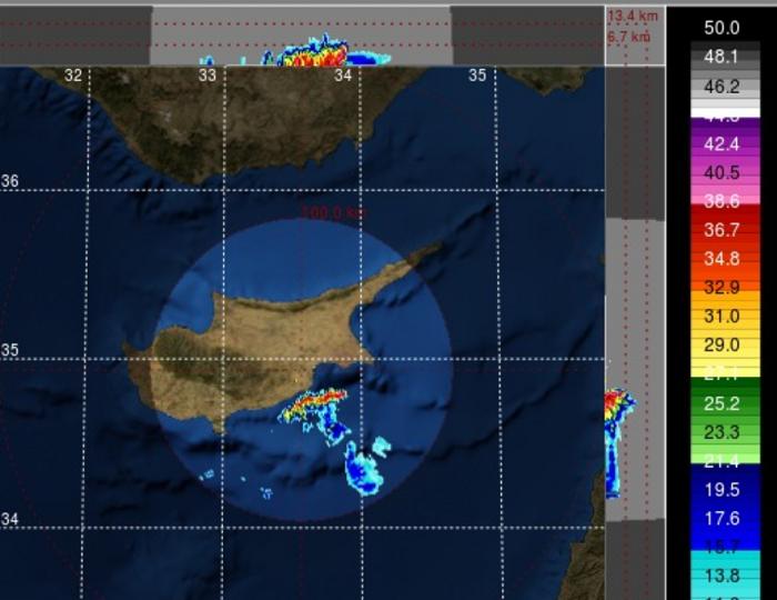 Έκτακτη καιρική ενημέρωση - Έντονες καταιγίδες εισέρχονται στο νησί