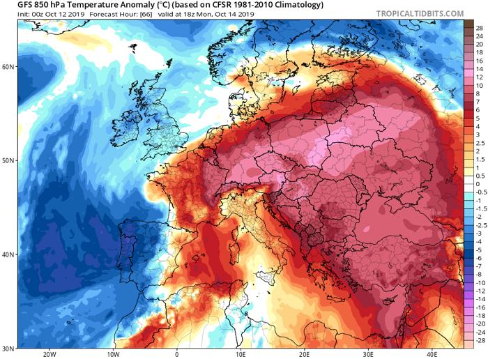 Θερμοκρασίες Ιουλίου στην καρδιά του φθινοπώρου