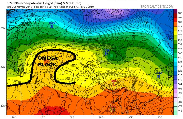 Omega Block φέρνει ανεπιθύμητες καιρικές συνθήκες στην Κύπρο