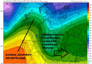 Διαδοχικές διαταραχές θα επηρεάσουν την περιοχή μας την ερχόμενη εβδομάδα με βροχές/καταιγίδες