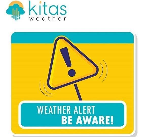 Κίτρινη προειδοποίηση από KitasWeather για έντονες καταιγίδες, μεγάλα ύψη βροχής και πυκνή ομίχλη