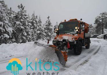 Πρωινή ενημέρωση για την κατάσταση στο οδικό δίκτυο - Ύψος χιονιού στο Τρόοδος