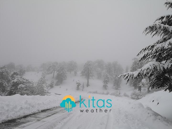 Κατάσταση οδικού δικτύου στο Τρόοδος και ύψος χιονιού - Ενημέρωση (10:08)