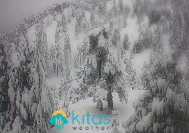 Κατάσταση οδικού δικτύου και ύψος χιονιού στο Τρόοδος- Ενημέρωση ώρα (08:00)