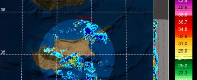 Οι βροχές από Λεμεσό κινούνται προς Λάρνακα - Δείξτε προσοχή!!!