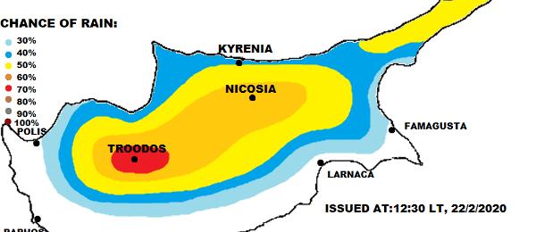 Τοπικές βροχές και πιθανότητα μεμονωμένων καταιγίδων τις επόμενες ώρες