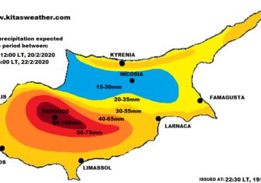 Έρχονται πολλές βροχές και χιόνια - Χάρτης συνολικού υετού