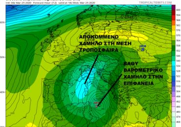 Αύξηση νεφώσεων με πιθανότητα βροχών τις επόμενες ημέρες - Πτώση θερμοκρασίας από την Παρασκευή