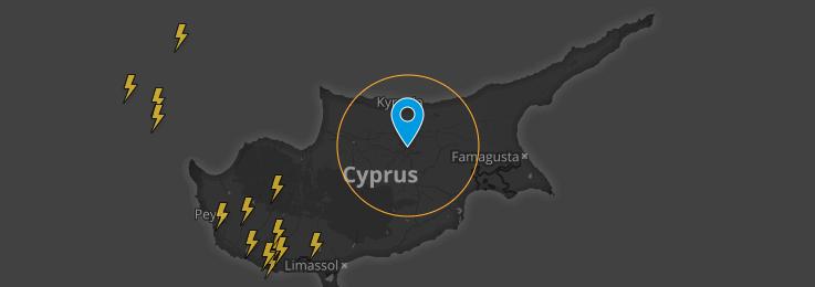 Τοπικές καταιγίδες με χαλάζι και χιόνια στην περιοχή του Τροόδους - Καιρική ενημέρωση ώρα 08:00