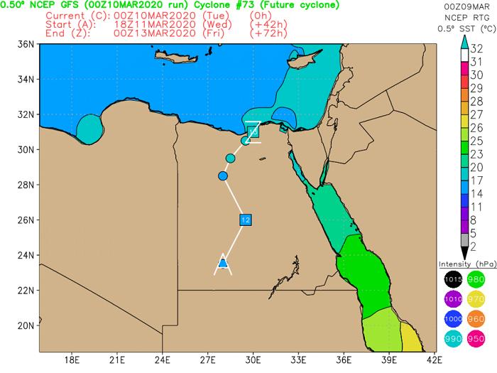 Ασυνήθιστα βαθύ χαμηλό από την Αίγυπτο φέρνει σκόνη, ενισχυμένους ανέμους και πολλές βροχές