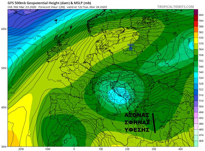 Πιθανότητα μεμονωμένων βροχών/καταιγίδων αύριο - Περαιτέρω άνοδος της θερμοκρασίας