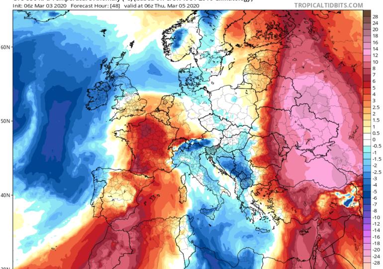 Άνοδος θερμοκρασίας, ενίσχυση ανέμων, σκόνη, λασποβροχές και ξηρές καταιγίδες στο καιρικό μενού των επόμενων ημερών