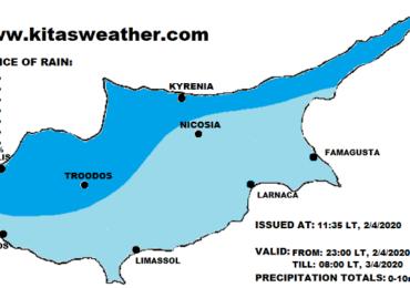 Πιθανότητα μεμονωμένων βροχών το απόγευμα/απόψε - Ακολουθούν ιδιαίτερα θερμές αέριες μάζες
