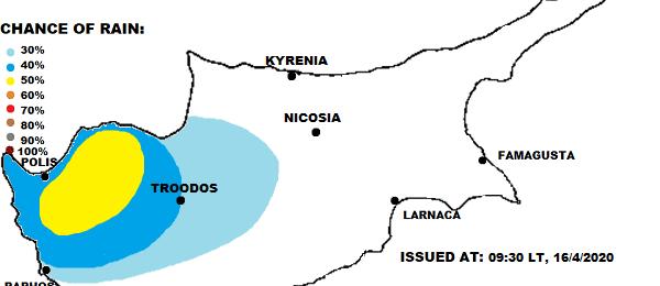 Τοπικές βροχές/καταιγίδες το απόγευμα (Χάρτης) - Ηλιοφάνεια και άνοδος θερμοκρασίας από αύριο