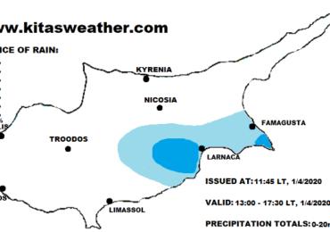 Τοπικές βροχές το απόγευμα - Κατακόρυφη άνοδος της θερμοκρασίας τις επόμενες ημέρες